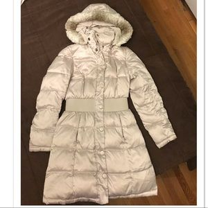 ABS long parka coat XS